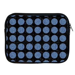 Circles1 Black Marble & Blue Denim Apple Ipad Zipper Case by trendistuff