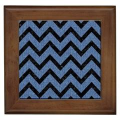 CHV9 BK-MRBL BL-DENM (R) Framed Tiles by trendistuff