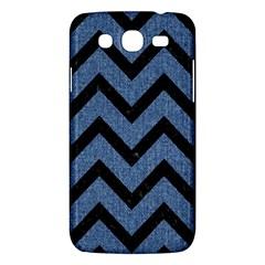Chevron9 Black Marble & Blue Denim (r) Samsung Galaxy Mega 5 8 I9152 Hardshell Case  by trendistuff