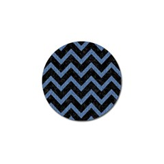 Chevron9 Black Marble & Blue Denim Golf Ball Marker (10 Pack) by trendistuff