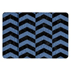 Chevron2 Black Marble & Blue Denim Samsung Galaxy Tab 8 9  P7300 Flip Case