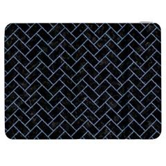 Brick2 Black Marble & Blue Denim Samsung Galaxy Tab 7  P1000 Flip Case by trendistuff