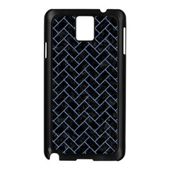 Brick2 Black Marble & Blue Denim Samsung Galaxy Note 3 N9005 Case (black) by trendistuff