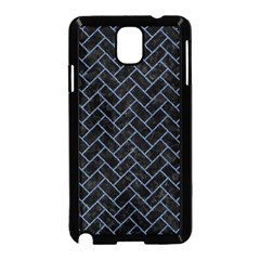 Brick2 Black Marble & Blue Denim Samsung Galaxy Note 3 Neo Hardshell Case (black) by trendistuff
