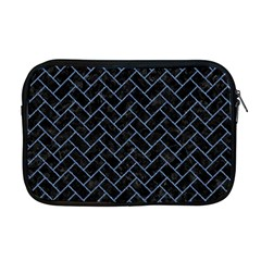 Brick2 Black Marble & Blue Denim Apple Macbook Pro 17  Zipper Case by trendistuff