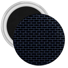 Brick1 Black Marble & Blue Denim 3  Magnet by trendistuff