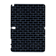 Brick1 Black Marble & Blue Denim Samsung Galaxy Note 10 1 (p600) Hardshell Case by trendistuff
