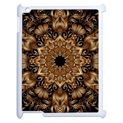 3d Fractal Art Apple Ipad 2 Case (white) by Simbadda