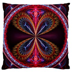 3d Abstract Ring Large Cushion Case (two Sides) by Simbadda