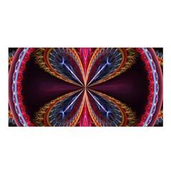 3d Abstract Ring Satin Shawl by Simbadda