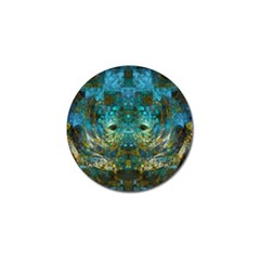 Blue Gold Modern Abstract Geometric Golf Ball Marker (4 Pack)