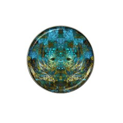 Blue Gold Modern Abstract Geometric Hat Clip Ball Marker (4 Pack)