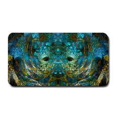 Blue Gold Modern Abstract Geometric Medium Bar Mats