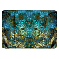 Blue Gold Modern Abstract Geometric Samsung Galaxy Tab 8 9  P7300 Flip Case by CrypticFragmentsColors