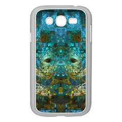 Blue Gold Modern Abstract Geometric Samsung Galaxy Grand Duos I9082 Case (white) by CrypticFragmentsColors