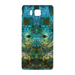 Blue Gold Modern Abstract Geometric Samsung Galaxy Alpha Hardshell Back Case