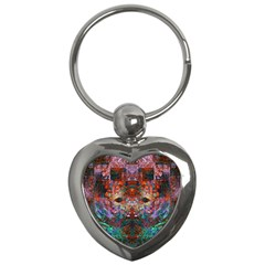 Modern Abstract Geometric Art Rainbow Colors Key Chains (heart)  by CrypticFragmentsColors