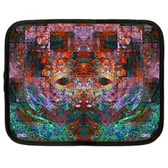Modern Abstract Geometric Art Rainbow Colors Netbook Case (xl)  by CrypticFragmentsColors