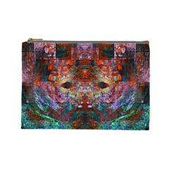 Modern Abstract Geometric Art Rainbow Colors Cosmetic Bag (large)