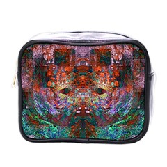 Modern Abstract Geometric Art Rainbow Colors Mini Toiletries Bags