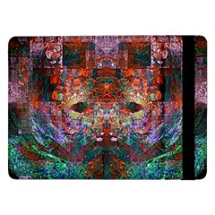 Modern Abstract Geometric Art Rainbow Colors Samsung Galaxy Tab Pro 12 2  Flip Case by CrypticFragmentsColors