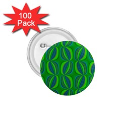 Blue Green Ethnic Print Pattern 1 75  Buttons (100 Pack)