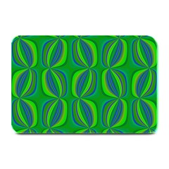 Blue Green Ethnic Print Pattern Plate Mats