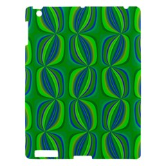 Blue Green Ethnic Print Pattern Apple Ipad 3/4 Hardshell Case by CrypticFragmentsColors