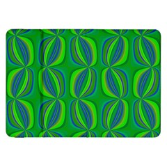 Blue Green Ethnic Print Pattern Samsung Galaxy Tab 8 9  P7300 Flip Case by CrypticFragmentsColors