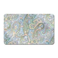 Paisley Boho Hippie Retro Fashion Print Pattern  Magnet (rectangular) by CrypticFragmentsColors