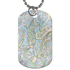 Paisley Boho Hippie Retro Fashion Print Pattern  Dog Tag (two Sides) by CrypticFragmentsColors