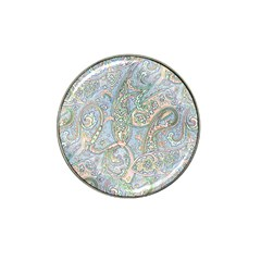 Paisley Boho Hippie Retro Fashion Print Pattern  Hat Clip Ball Marker by CrypticFragmentsColors