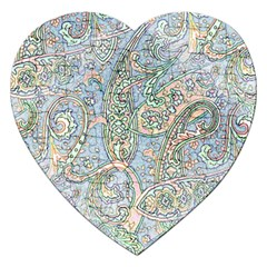 Paisley Boho Hippie Retro Fashion Print Pattern  Jigsaw Puzzle (heart) by CrypticFragmentsColors