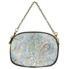 Paisley Boho Hippie Retro Fashion Print Pattern  Chain Purses (one Side)  by CrypticFragmentsColors