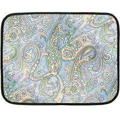 Paisley Boho Hippie Retro Fashion Print Pattern  Double Sided Fleece Blanket (mini)  by CrypticFragmentsColors
