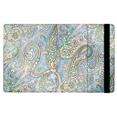 Paisley Boho Hippie Retro Fashion Print Pattern  Apple Ipad 2 Flip Case by CrypticFragmentsColors
