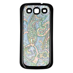 Paisley Boho Hippie Retro Fashion Print Pattern  Samsung Galaxy S3 Back Case (black) by CrypticFragmentsColors