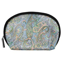 Paisley Boho Hippie Retro Fashion Print Pattern  Accessory Pouches (large)  by CrypticFragmentsColors