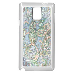 Paisley Boho Hippie Retro Fashion Print Pattern  Samsung Galaxy Note 4 Case (white) by CrypticFragmentsColors