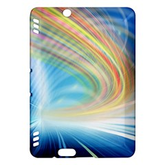 Glow Motion Lines Light Kindle Fire Hdx Hardshell Case by Alisyart