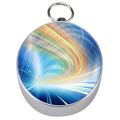 Glow Motion Lines Light Silver Compasses by Alisyart