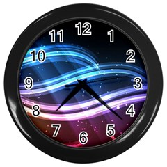 Illustrations Color Purple Blue Circle Space Wall Clocks (black) by Alisyart