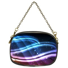 Illustrations Color Purple Blue Circle Space Chain Purses (two Sides)  by Alisyart