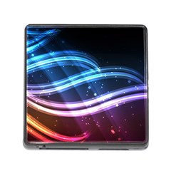 Illustrations Color Purple Blue Circle Space Memory Card Reader (Square)