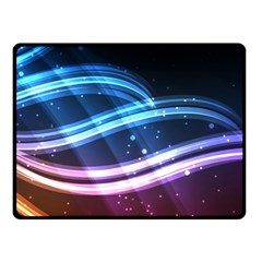 Illustrations Color Purple Blue Circle Space Double Sided Fleece Blanket (small)  by Alisyart