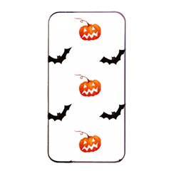 Halloween Seamless Pumpkin Bat Orange Black Sinister Apple Iphone 4/4s Seamless Case (black) by Alisyart