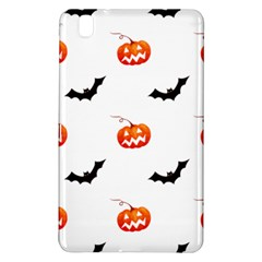 Halloween Seamless Pumpkin Bat Orange Black Sinister Samsung Galaxy Tab Pro 8 4 Hardshell Case by Alisyart