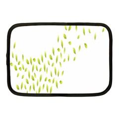 Leaves Leaf Green Fly Landing Netbook Case (medium)  by Alisyart