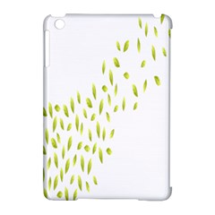 Leaves Leaf Green Fly Landing Apple Ipad Mini Hardshell Case (compatible With Smart Cover) by Alisyart