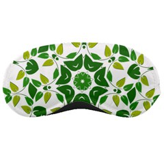 Leaf Green Frame Star Sleeping Masks by Alisyart